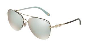 TIFFANY TF3054B 602164 Pale Gold Pilot 59 mm Women's Sunglasses