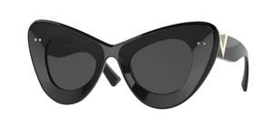 VALENTINO VA4090 500187 Black Cat Eye Women's 46 mm Sunglasses