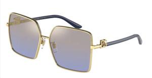 DOLCE & GABBANA DG2279 02 33 Gold Square 60 mm Women's Sunglasses