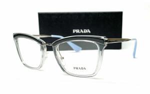 PRADA VPR 15U KI5-1O1 Grey Demo Lens Women's Eyeglasses 50mm
