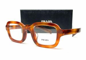 PRADA VPR 16VF 469-1O1 Light Havana Demo Lens Men's Eyeglasses 49mm