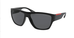 PRADA LINEA ROSSA SPS 08V 1BO-02G Matte Black Square Men's 59 mm Polarized Sunglasses