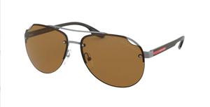 PRADA LINEA ROSSA SPS 52V 7CQ-5Y1 Matte Gunmetal Pilot 61 mm Men's Polarized Sunglasses