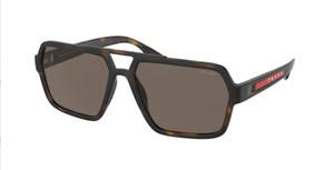 PRADA LINEA ROSSA SPS 01X 581-06H Havana Rubber Men's 59 mm Sunglasses