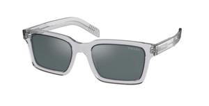 PRADA SPR 06W U43-01A Grey Crystal Rectangle Square Men's 52 mm Sunglasses
