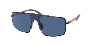 PRADA LINEA ROSSA PS 52XS 06S07L Matte Navy Rectangle Square 59 mm Sunglasses