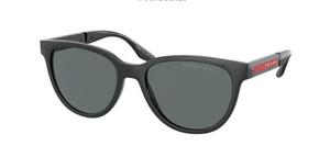 PRADA LINEA ROSSA PS 05XS DG002G Black Rubber Oval 54 mm Polarized Sunglasses