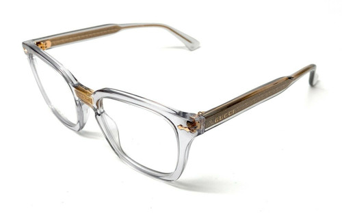 Gucci GG0184O 005 Grey Unisex Authentic Eyeglasses Frame 50-21