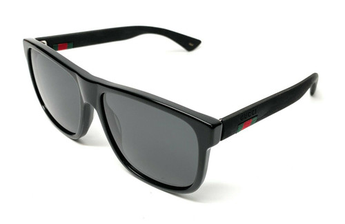 GUCCI GG0010S 001 Black Square Men's Authentic Sunglasses 58 mm