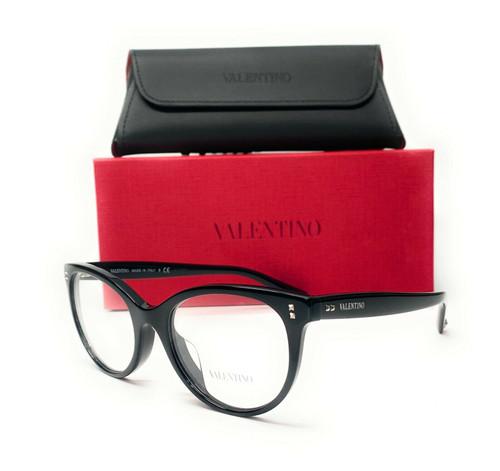 Valentino VA3009 5001 Black Demo Lens Women's Eyeglasses 52mm
