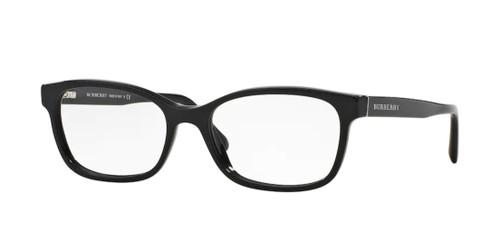 BURBERRY BE2201 3001 Black Rectangle Women's 52 mm Eyeglasses