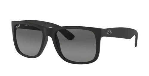 RAY BAN RB4165 622 T3 Rubber Black Square Men's 55 mm Polarized Sunglasses