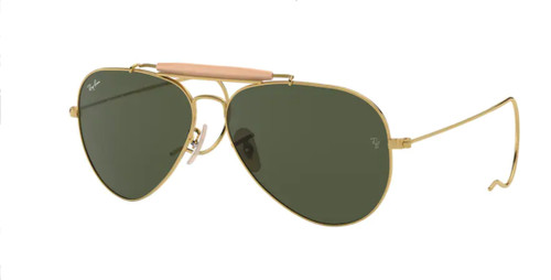 RAY BAN RB3030 L0216 Gold Aviator Women's 58 mm Sunglasses