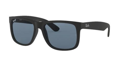 RAY BAN RB4165 622 2V Rubber Black Square Men's 55 mm Sunglasses