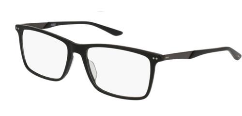 PUMA PU0096O 006 Black Ruthenium Square Rectangle 56 mm Men's Eyeglasses