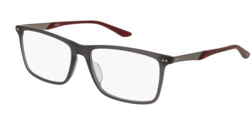 PUMA PU0096O 008 Grey Ruthenium Rectangle Square Men's 56 mm Eyeglasses