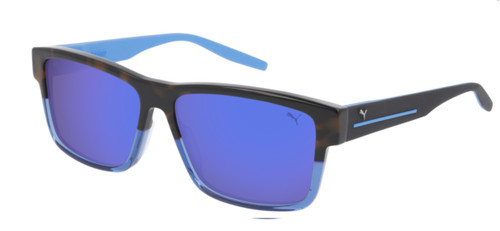 PUMA PU0267S 004 Havana Rectangle Men's 58 mm Sunglasses