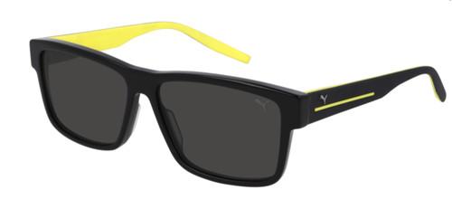 PUMA PU0267S 001 Black Rectangle Square Men's 58 mm Sunglasses