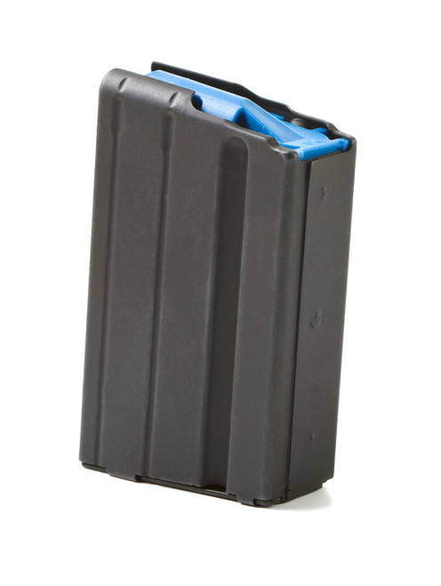 AR-15 5rd 6.5 Grendel Black Marlube Stainless Steel Magazine with Blue Follower