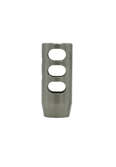 Stainless Steel .308/6.5 Creedmoor  Compensator vertical profile