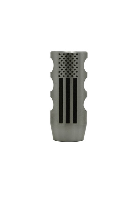 .308/6.5 Creedmoor muzzle brake with American Flag Design