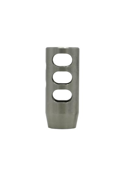 Stainless Steel .308/6.5 Creedmoor  Compensator vertical profile