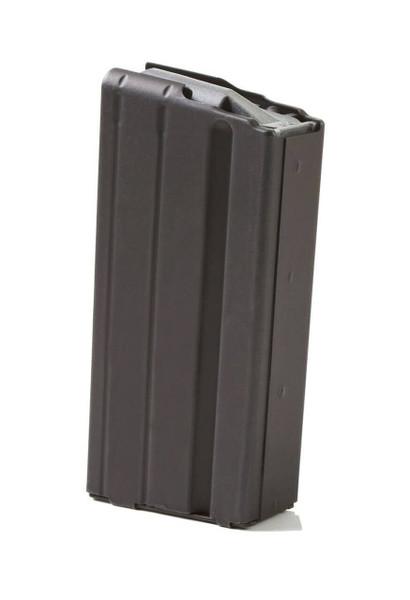 AR-15 15rd 6.8 SPC Black Marlube Stainless Steel Magazine with Grey Follower
