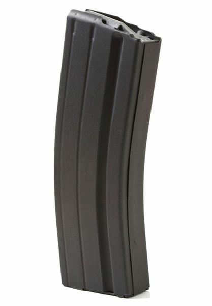 AR-15 25rd 6.8 SPC Black Marlube Stainless Steel Magazine with Grey Follower