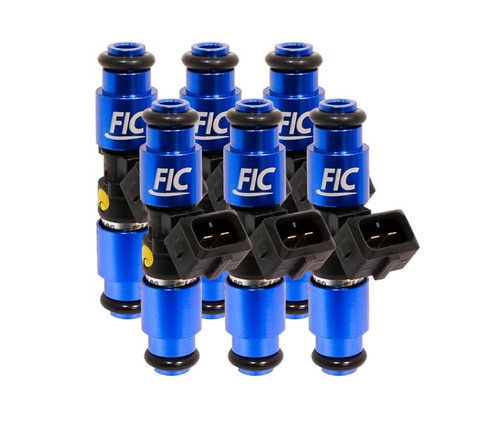Fuel Injector Clinic IS166-1650H 1650cc FIC Fuel Injector Clinic Injector Set for VW / Audi (6 cyl, 64mm) (High-Z)