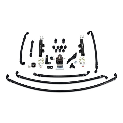 IAG-AFD-2624BK IAG Performance PTFE Fuel System Kit with Lines, FPR, Fuel Rails for 2008-14 WRX.
