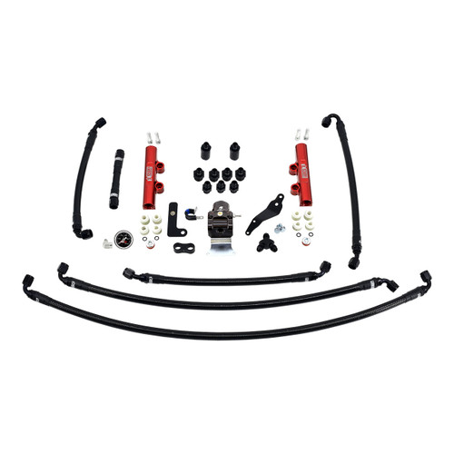 IAG-AFD-2624RD IAG Performance PTFE Fuel System Kit with Lines, FPR, Fuel Rails for 2008-14 WRX.
