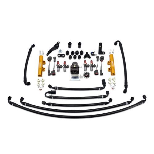 IAG-AFD-2630GD IAG PTFE Flex Fuel System Kit with Injectors, Lines, FPR, Fuel Rails for 08-14 WRX (Gold/1050cc).