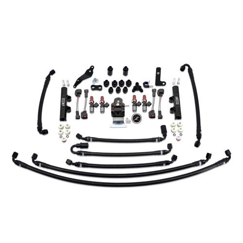 IAG-AFD-2631BK IAG PTFE Flex Fuel System Kit with Injectors, Lines, FPR, Fuel Rails for 08-14 WRX (Black/1300cc).