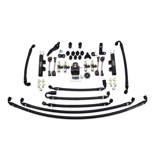 IAG-AFD-2633.1BK IAG PTFE Flex Fuel System Kit with Injectors, Lines, FPR, Fuel Rails for 08-14 WRX (Black/2600cc).