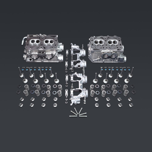IAG-ENG-3020D IAG Stage 2 Pocket Ported Cylinder Heads for 06-14 WRX, 06-13 FXT, 07-09 LGT D25 Casting (Cams / Lifters Sold Separately).