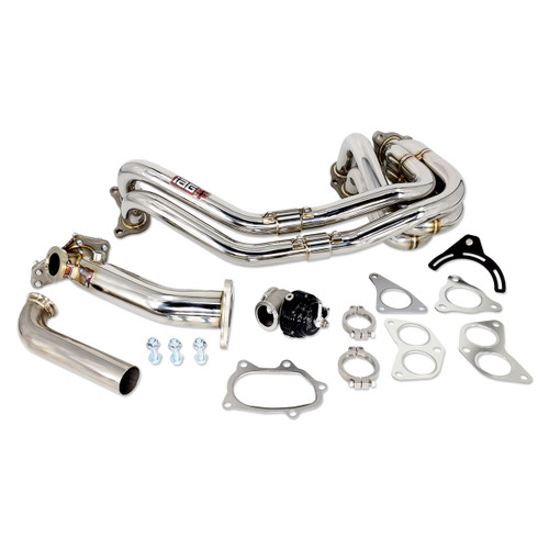 IAG-EXT-1051 IAG 38mm External Wastegate Uppipe Kit with Unequal Length Header for Subaru WRX STI (TiAL Wastegate Included).