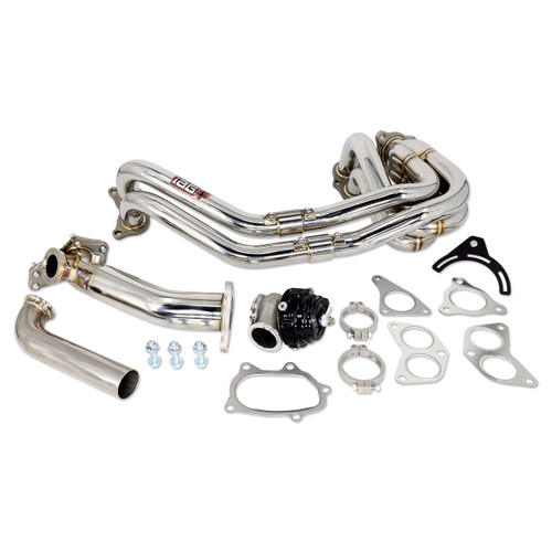 IAG-EXT-1071 IAG 44mm External Wastegate Uppipe Kit with Unequal Length Header for Subaru WRX STI (TiAL Wastegate Included).
