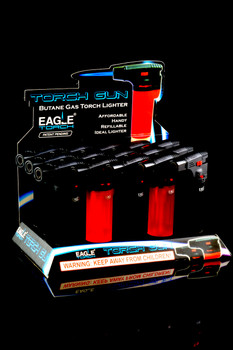 12 Pc Eagle Pen Torch Lighter Display - L0147