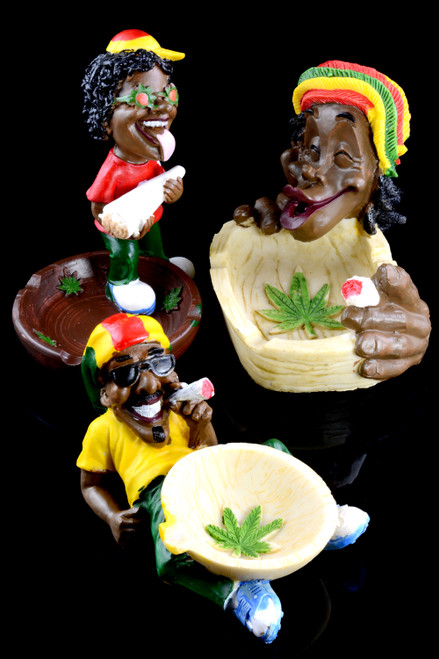 Rasta Resin Ashtray - M0299