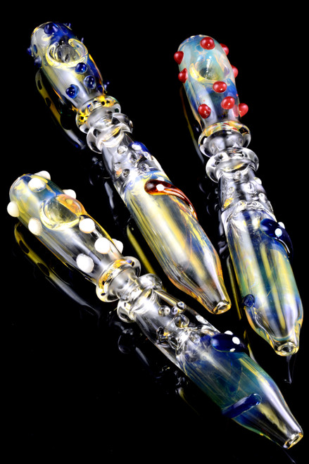 Color Changing Glass Snake Steam Roller - P2005