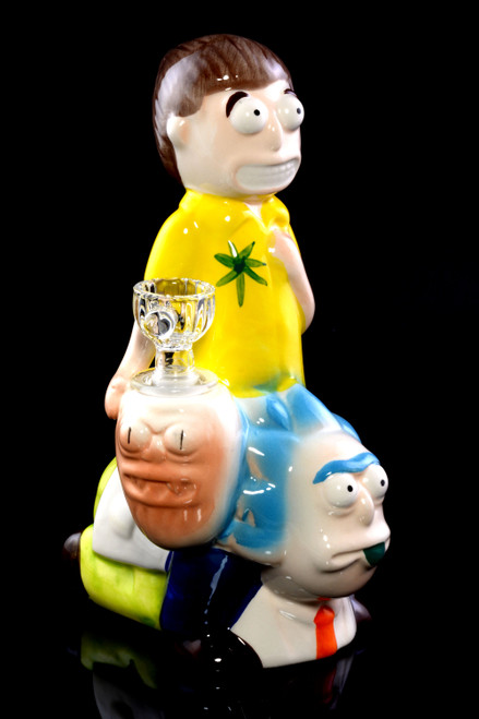 Wholesale ceramic Rick and Morty wholesale water pipe.
