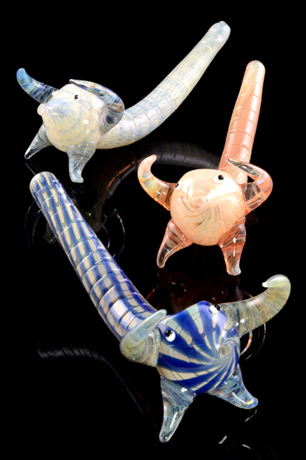 Silver Fumed Glass Scorpion Pipe - AP254