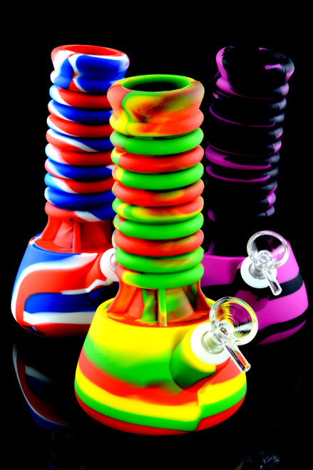 Colorful Silicone Stretch Beaker Water Pipe - WP1970