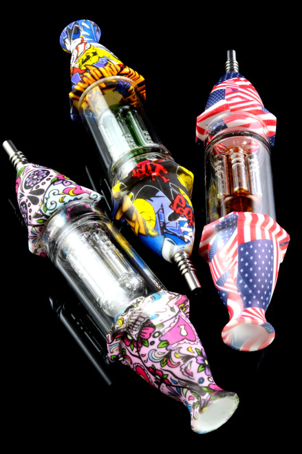 Wholesale silicone nectar collector with tree percolator.