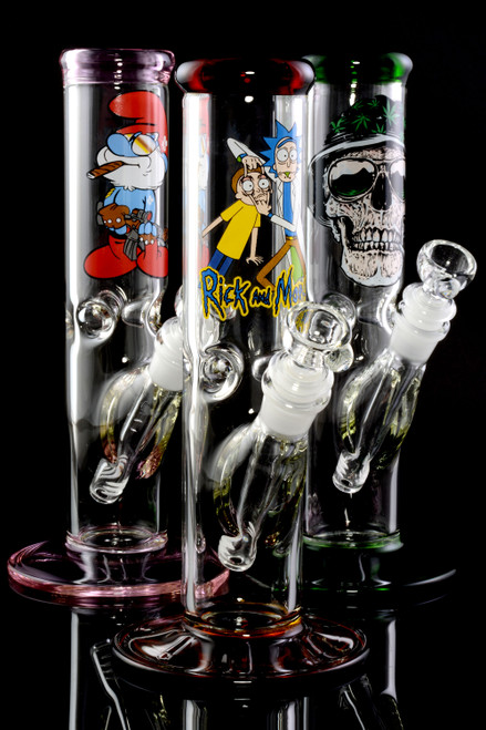 (US Made) Small GoG Straight Shooter Water Pipe with Decal - WP1991