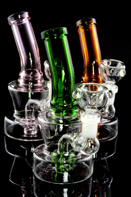 Small Stemless GoG Bent Neck Water Pipe with Showerhead Perc - WP1999