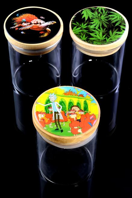 Medium Glass Jar with Decal - J0207