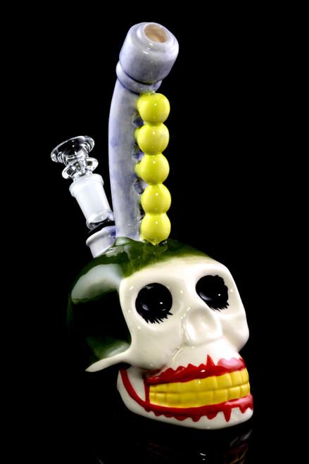 Ceramic Skull Water Pipe - WP2005
