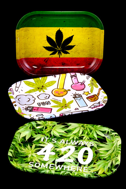 Small Metal Rolling Tray - RP264