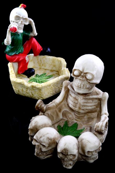 Skeleton Resin Ashtray - M0323